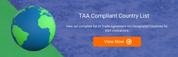 TAA Compliant Country List