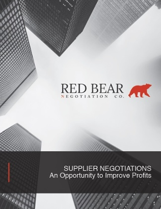 Supplier Negotiations - An Opportunity to Improve Profits