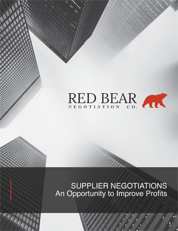 Supplier Negotiations An Opportunity to Improve Profits
