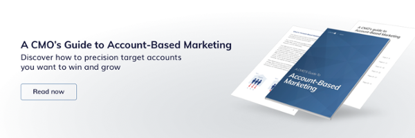"Download our eBook: ""A CMO's Guide to Account-Based Marketing"""