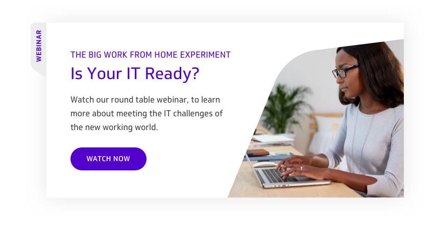 The Big Work From Home Experiment Webinar CTA
