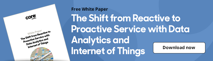 White Paper The Shift from Reactive to Proactive Service with Data Analytics and Internet of Things