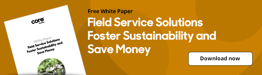 White Paper Field Service Solutions Foster Sustainability and Save Money