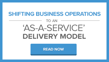 Shifting business operations to an as a service delivery model