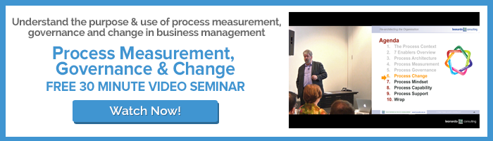 Watch Process Measurement, Governance and Change video seminar