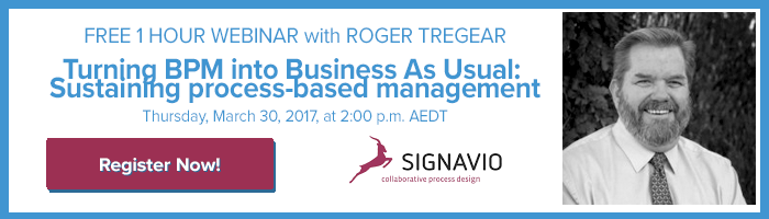 Roger Tregar Signavio Webinar - Turning BPM into Business As Usual