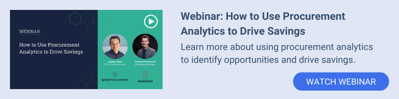 Webinar: How to Use Procurement Analytics to Drive Savings