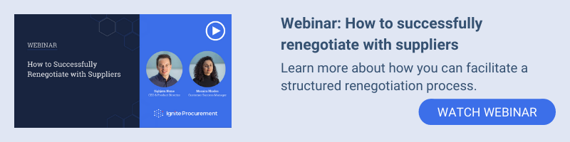 Webinar: How to successfully renegotiate with suppliers