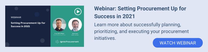 Webinar: Setting Procurement Up for Success in 2021