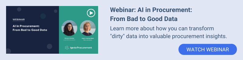 AI in Procurement: From Bad to Good Data