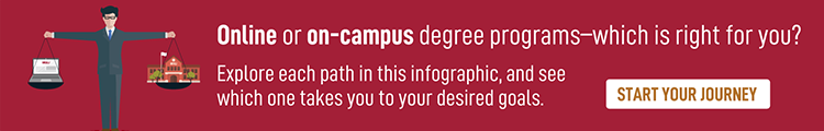 Choose between online and on-campus degree programs