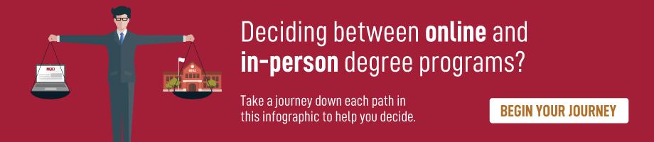 on-campus vs online degree programs