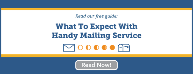 what to expect with handy mailing service
