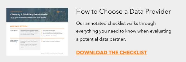Get the How to Choose a Data Provider Checklist