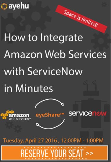 LIVE WEBINAR: HOW TO INTEGRATE AMAZON WEB SERVICES WITH SERVICENOW IN MINUTES