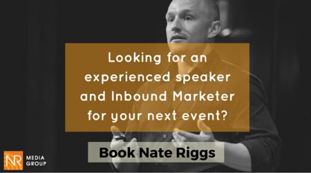 Book Inbound Marketer Nate Riggs