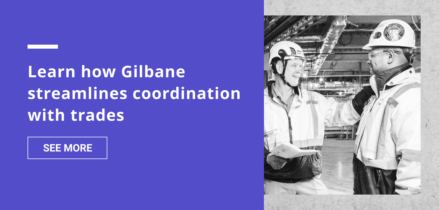 Gilbane trade coordination VR case study CTA