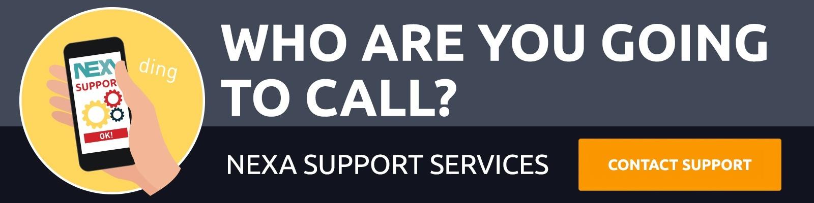 Contact NEXA Support Services