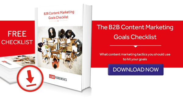 B2B Content Marketing Goals Checklist