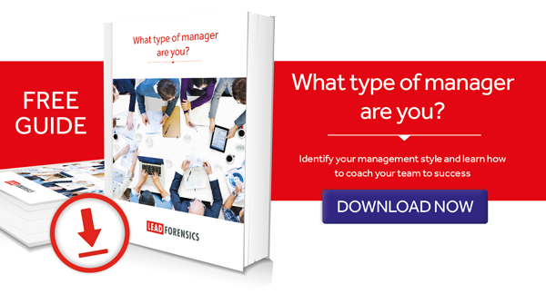 Call to action for downloadable guide on your management style
