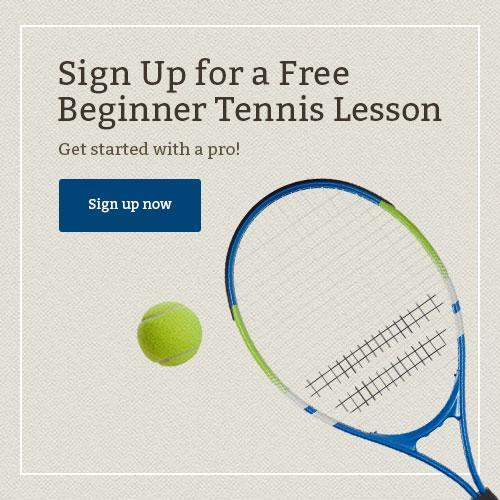 Take a beginner tennis lesson at Harbor Square Athletic Club