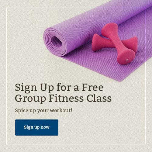 Take a free group fitness class at Harbor Sqaure Athletic Club