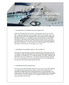 7 Rookie Exhibitor Mistakes to Avoid at Healthcare Trade Shows