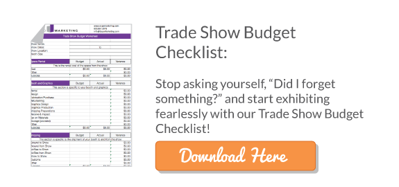 Trade Show Budget Checklist -- Website