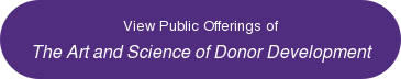 View Public Offering of The Art and Science of Donor Development