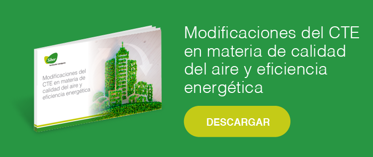 Modificaciones del CTE en materia de calidad del aire y eficiencia energética