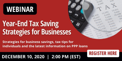 Year-End Tax Savings Strategies for Businesses 2020