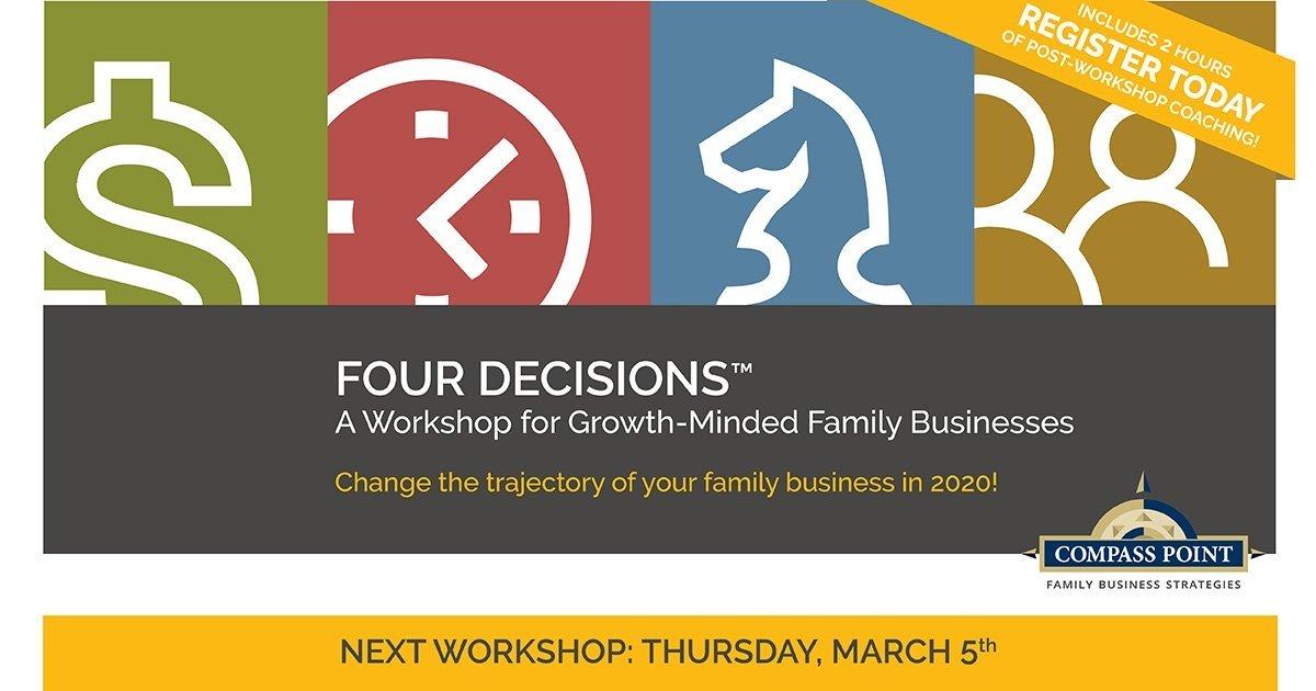 Four Decisions Family Business Workshop