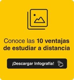 Infografía 10 Ventajas de estudiar a distancia