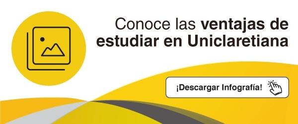 Infografía Ventajas de estudiar en Uniclaretiana