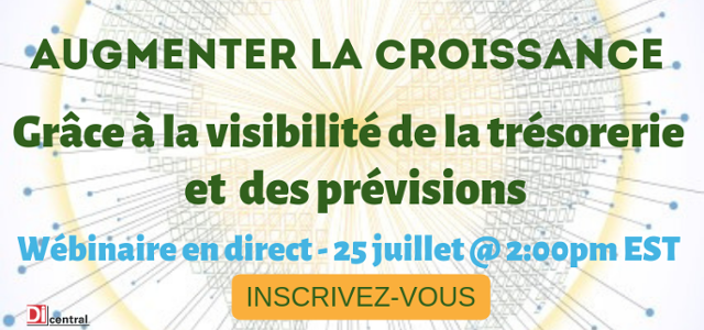 webinar graphic for cash visibility large letters in French