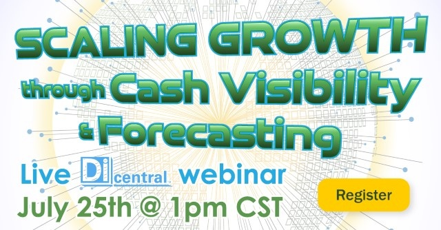webinar graphic for cash visibility large letters