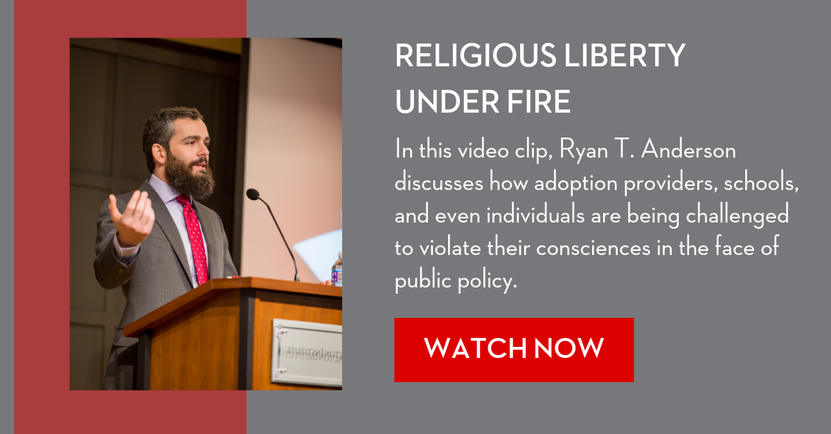 Government encroachment religious liberty video offer