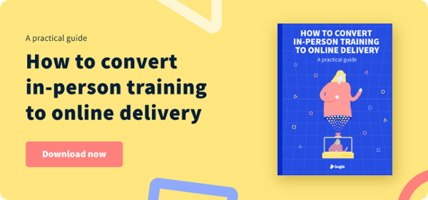 How to convert in person training to online delivery