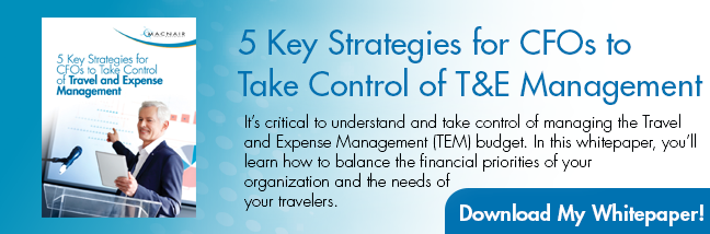 Learn 5 strategies for CFOs to take control of travel management