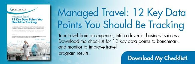 Managed Travel: 12 Key Data Points You Should Be Tracking