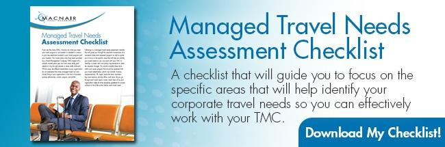 Managed Travel Needs Assessment Checklist