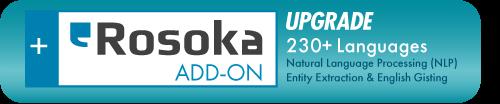 Rosoka Add-on upgrade 230 languages for natural language processing