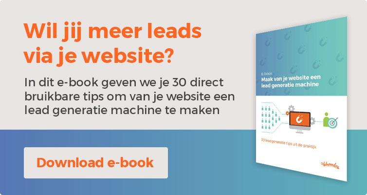 E-book lead generatie via je website