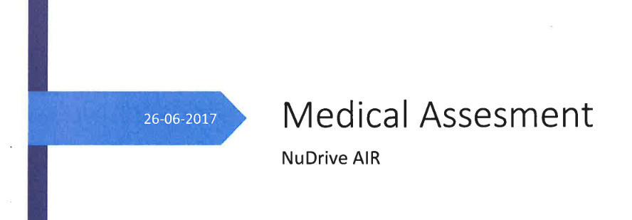 NuDrive Air medical study