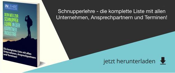 Schnupperlehre & Berufspraktische Tage in den Kärntner Industrie #inLehre