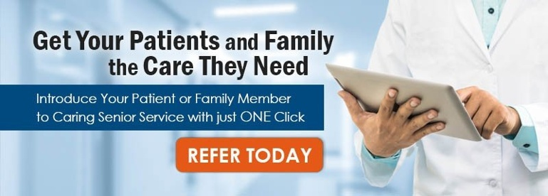 Refer Care for Patients and Family Button