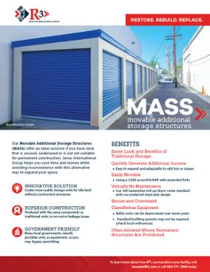 MASS Relocatable Storage unit brochure