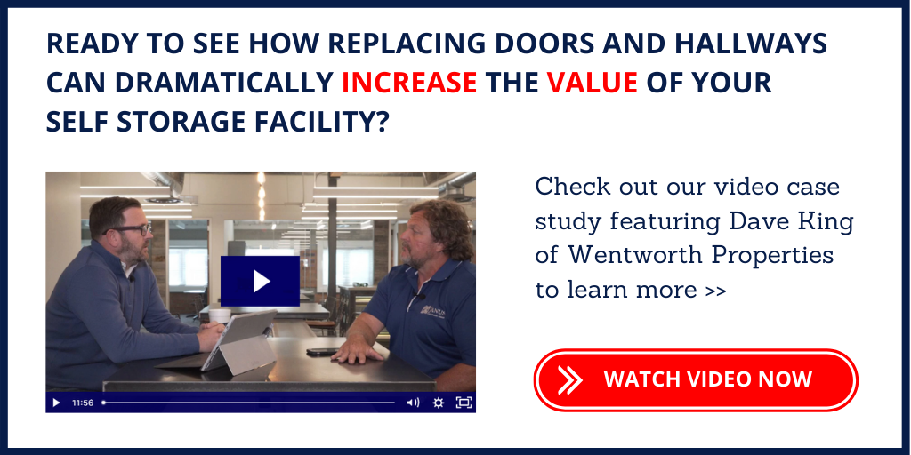 CTA button to watch video whitepaper on the benefits of replacing self storage doors