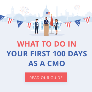 Read our guide about what you should do within your first 100 days as a CMO