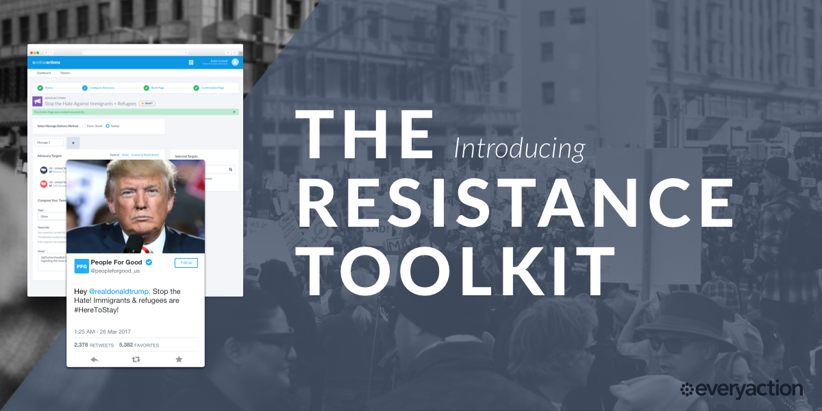 Resistance Toolkit for Advocacy from EveryAction